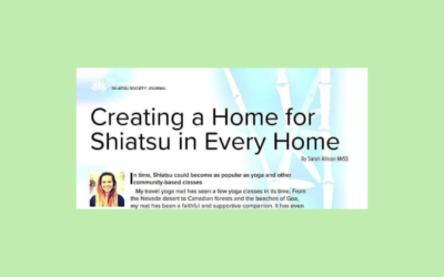 Creating a Home for Shiatsu in every Home